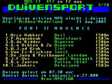 5e Afd 7 NPO vlucht Pont St Max 11-08-01